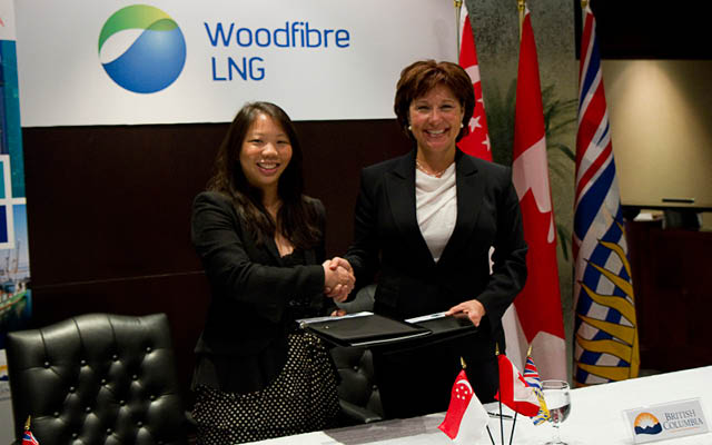 Imelda Tanoto signed Letter of Intent with British Columbia Premier, Christy Clark.
