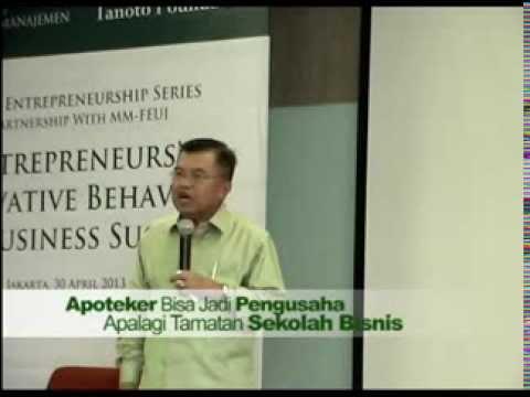 Jusuf Kalla at Tanoto Entrepreneurship Series